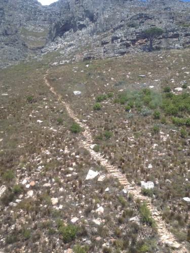 Тропа ведущая на столовую гору